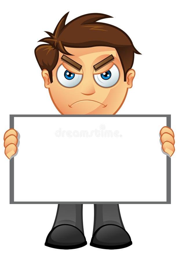 Business Man - Blank Sign 13 vector illustration