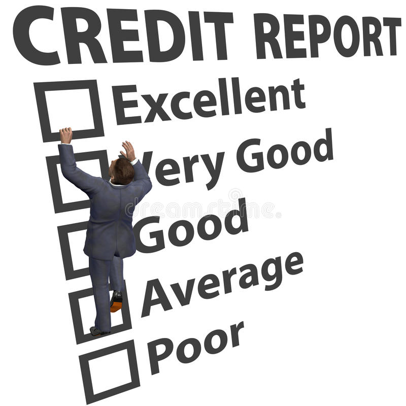 Business Man Build Credit Score Rating Up Royalty Free Stock Photos