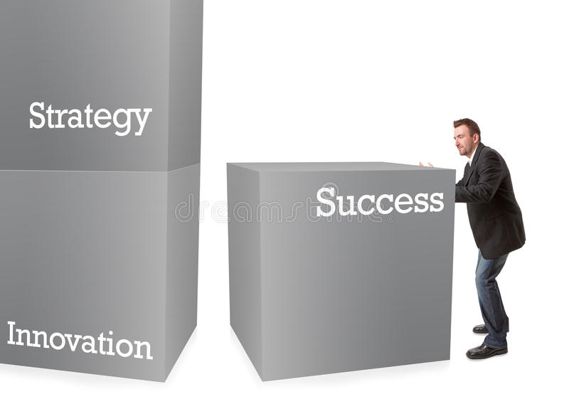 Download Business Man Building Blocks Stock Illustration - Image: 18705384