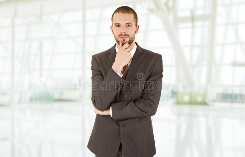 Business man. Thinking at the office stock photos