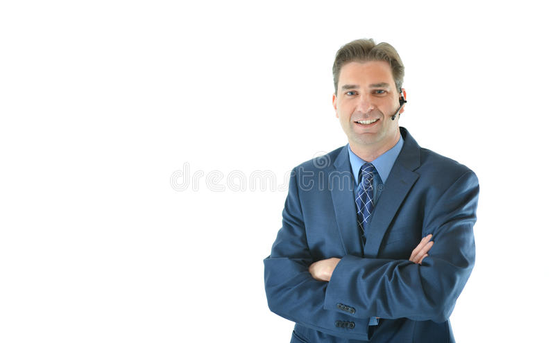 Download Business Man On A Call Or Customer Service Representative Stock Photo - Image: 83718432