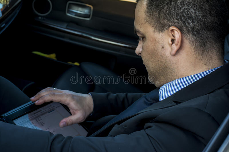 Download Business man in a car stock photo. Image of waiting, business - 39505862