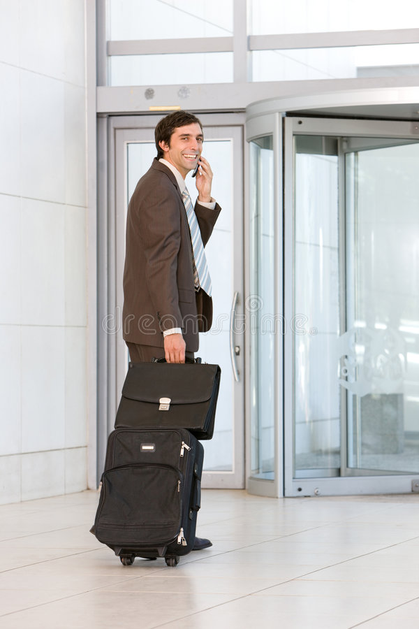 Download Business Man Carrying Luggage Stock Image - Image: 8692493