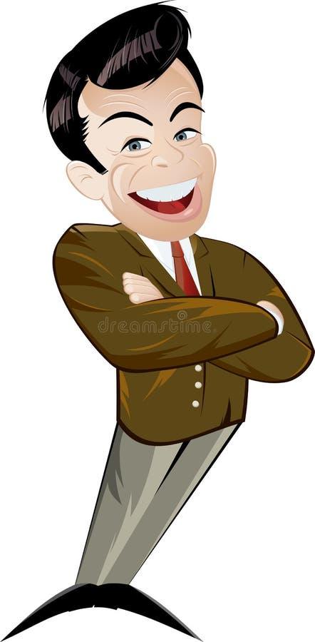 Business man cartoon stock illustration