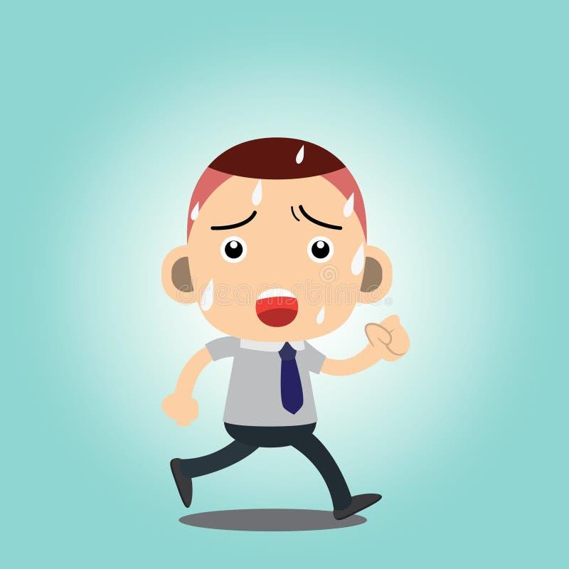 Business man. Cartoon charactor vector royalty free illustration