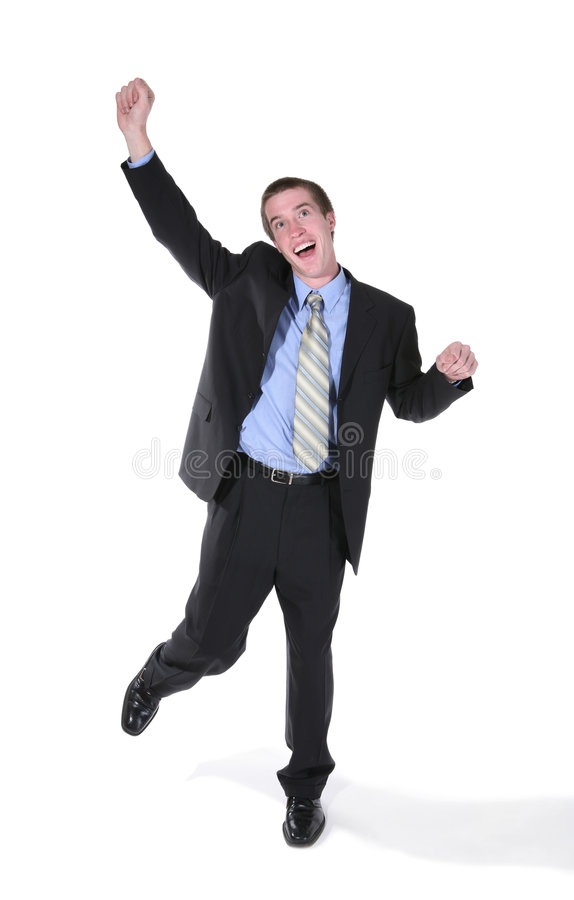 Business Man Celebrating royalty free stock images