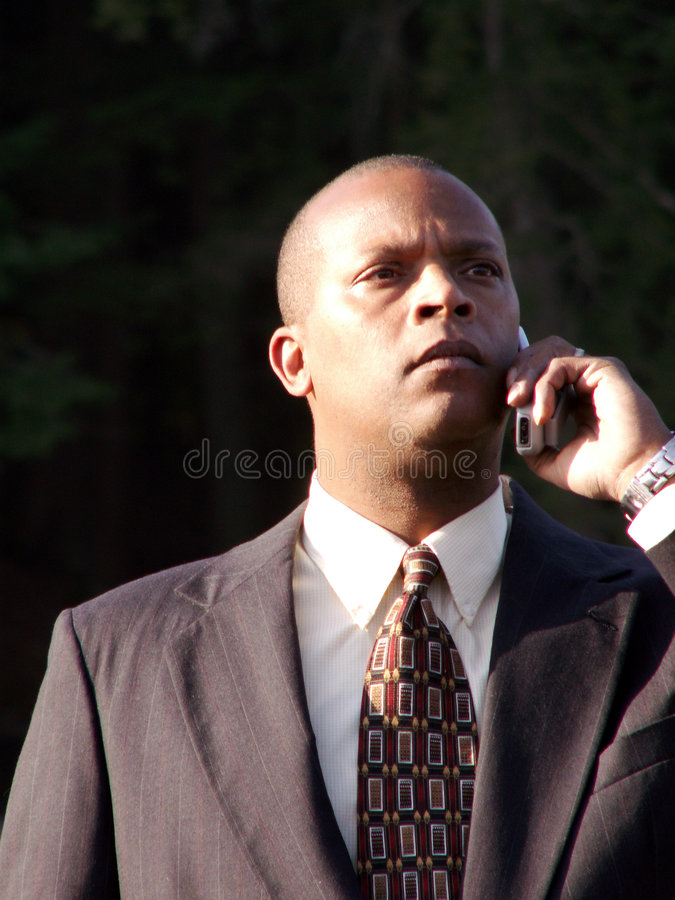 Business Man on Cell royalty free stock images