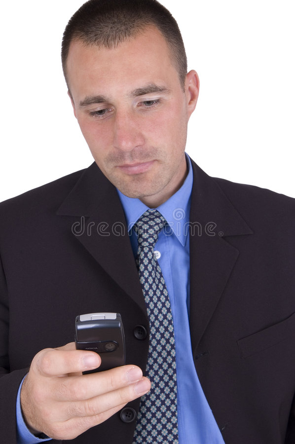 Download Business Man With Cellphone Royalty Free Stock Photography - Image: 1407697