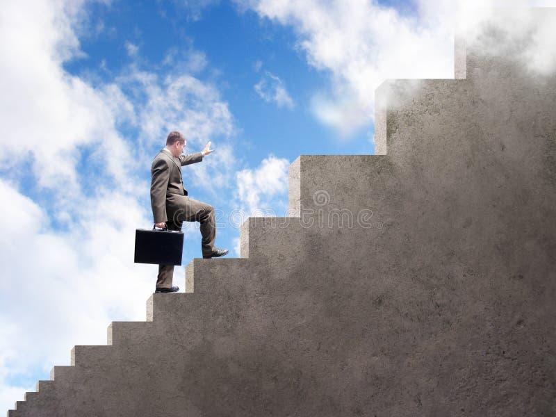 Download Business Man Climbing To Success Stock Photo - Image: 8336238