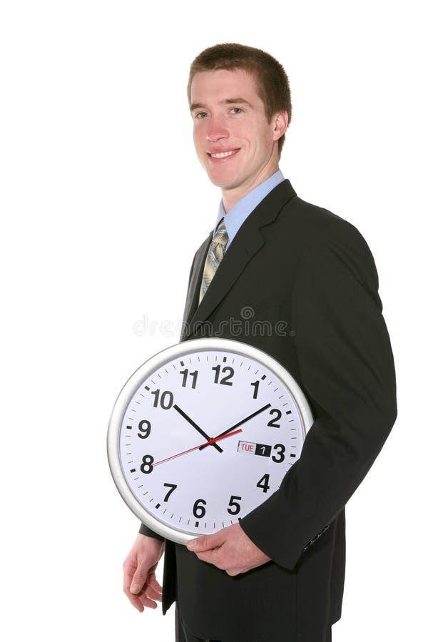 Business Man with Clock stock photos