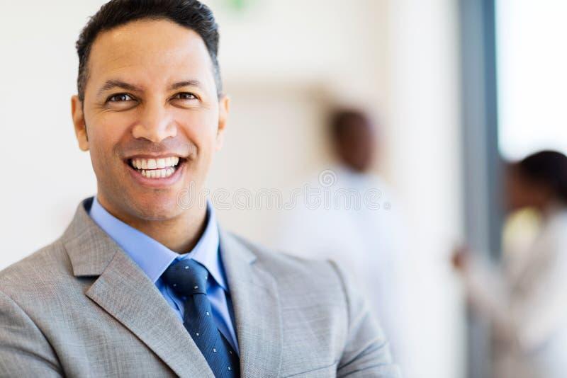 Business man close up. Close up portrait of mature business man stock photo