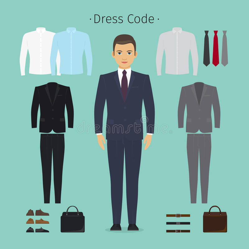 Business man clothes vector illustration