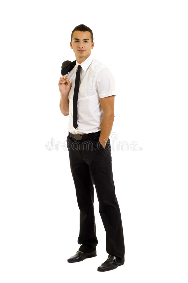 Download Business Man With Coat Over Shoulder Stock Image - Image of fresh, corporate: 12443515