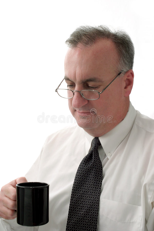 Business man coffee break ver2 stock photos