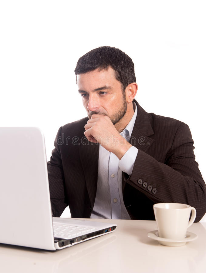 Free Business Man Concentrating On A Laptop Stock Images - 36600014