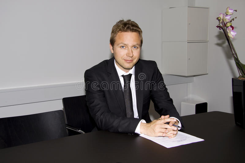 Download Business man with contract stock photo. Image of signature - 9767454