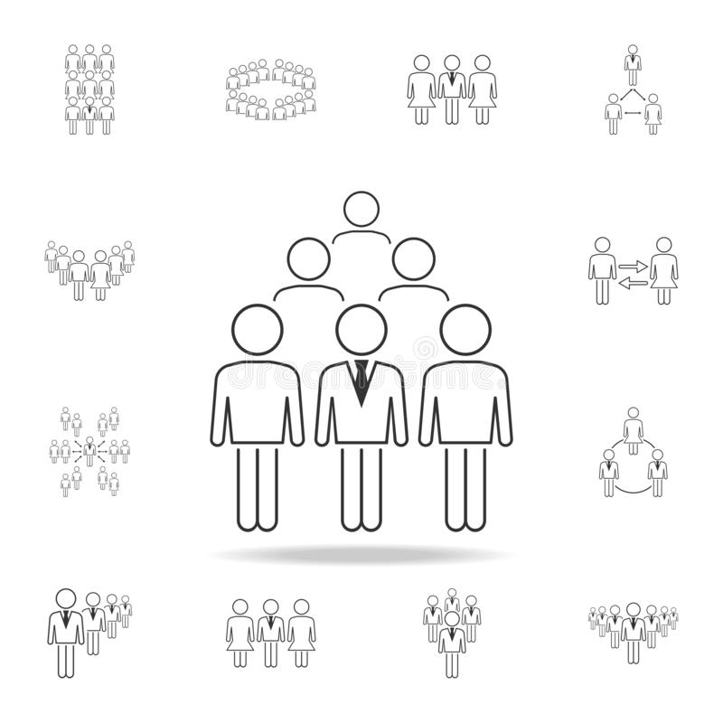 Business man in crowd icon. Detailed set of people in work icons. Premium graphic design. One of the collection icons for websites. Web design, mobile app on royalty free illustration
