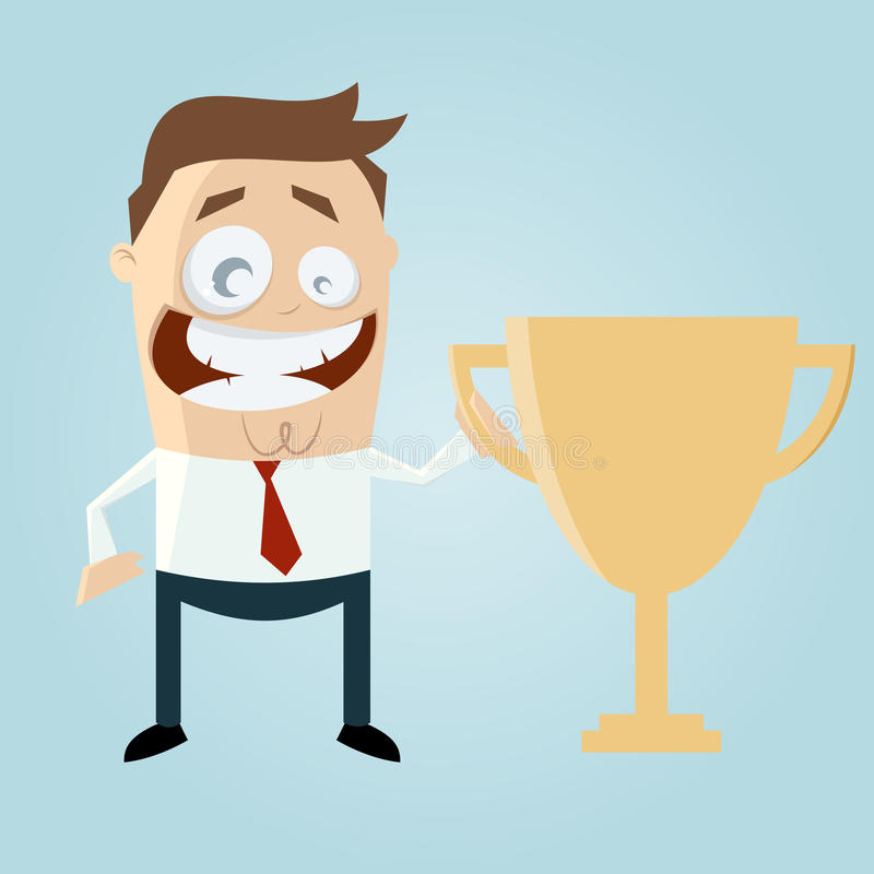 Business Man With Cup Royalty Free Stock Photography