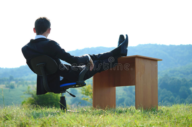 Download Business Man at desk stock photo. Image of looking, background - 25801668