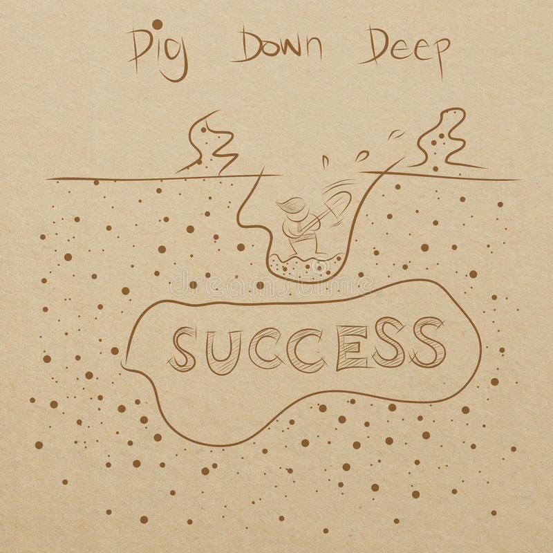 Free Business Man Digging Down To The Success Royalty Free Stock Photography - 29049797