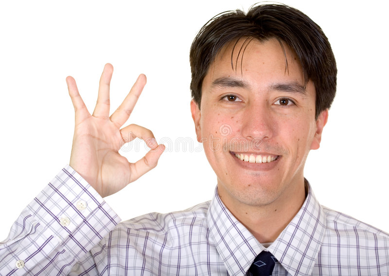 Download Business Man Doing The Ok Sign Stock Image - Image of blue, friendly: 1882363