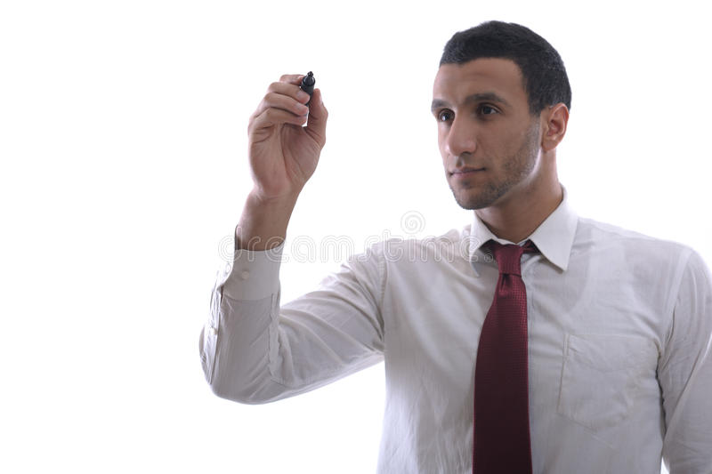 Download Business Man Draw With Marker On Empty Space Stock Photo - Image: 23577720