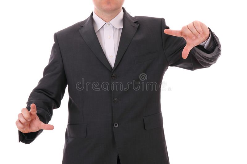 Download Business Man With Empty Hands Stock Photo - Image: 27011802