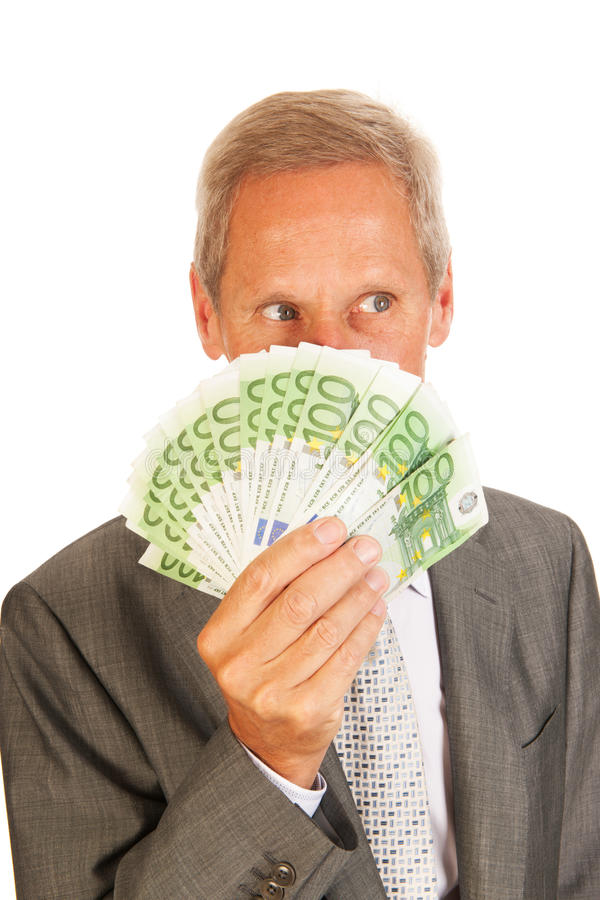 Business Man With Euros Royalty Free Stock Photography
