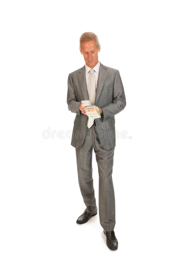 Download Business man with euros stock image. Image of standing - 26795421