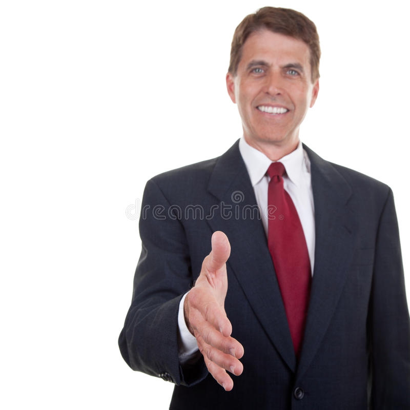Download Business Man Extending Hand Stock Image - Image of greeting, looking: 19211975