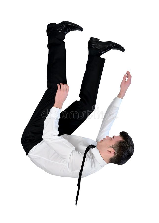 Business man fall down royalty free stock images