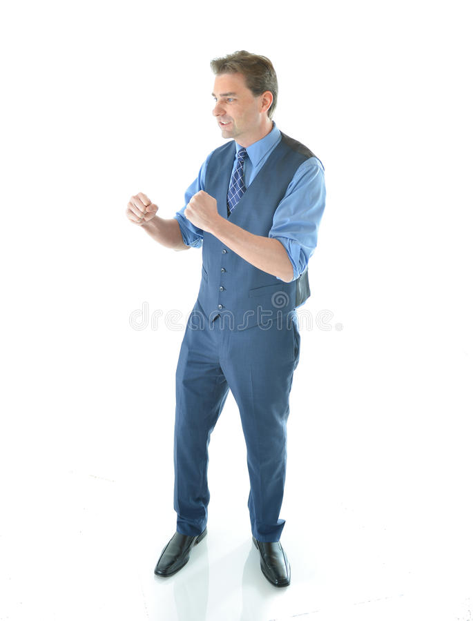 Download Business Man In A Fighting Pose Stock Photo - Image: 83717710