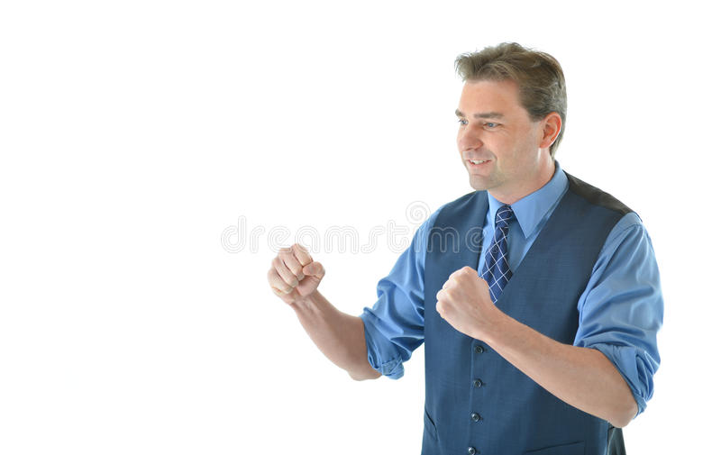 Download Business Man In A Fighting Pose Stock Photo - Image: 83718500