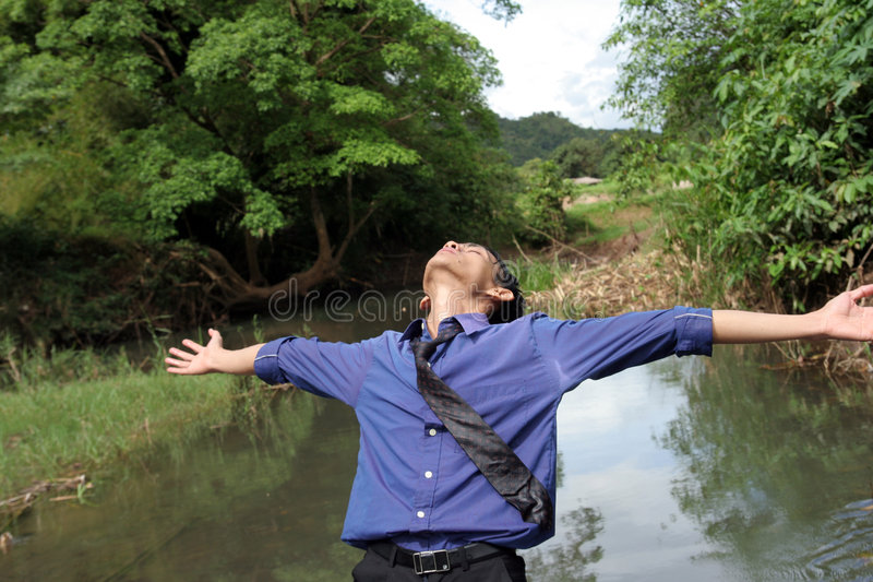 Download Business Man Find Inspiration Stock Image - Image of release, peace: 5329937