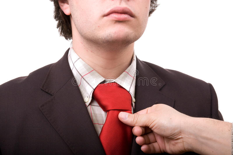 Download Business Man Fixing His Tie Stock Photo - Image of manager, gesture: 9586222
