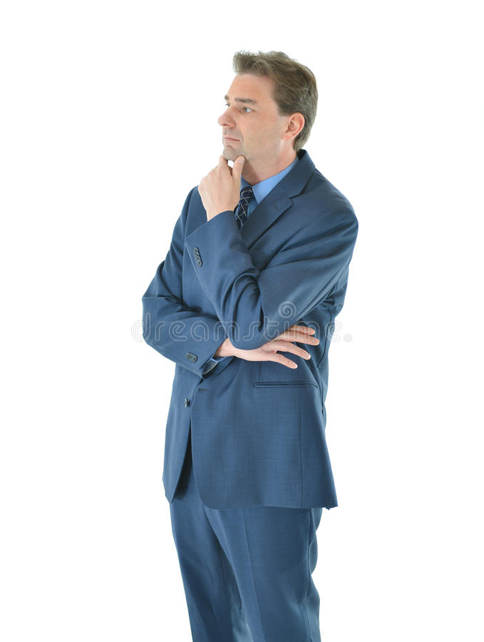 Download Business Man With Folded Arms Looking Away Stock Photo - Image: 83717634