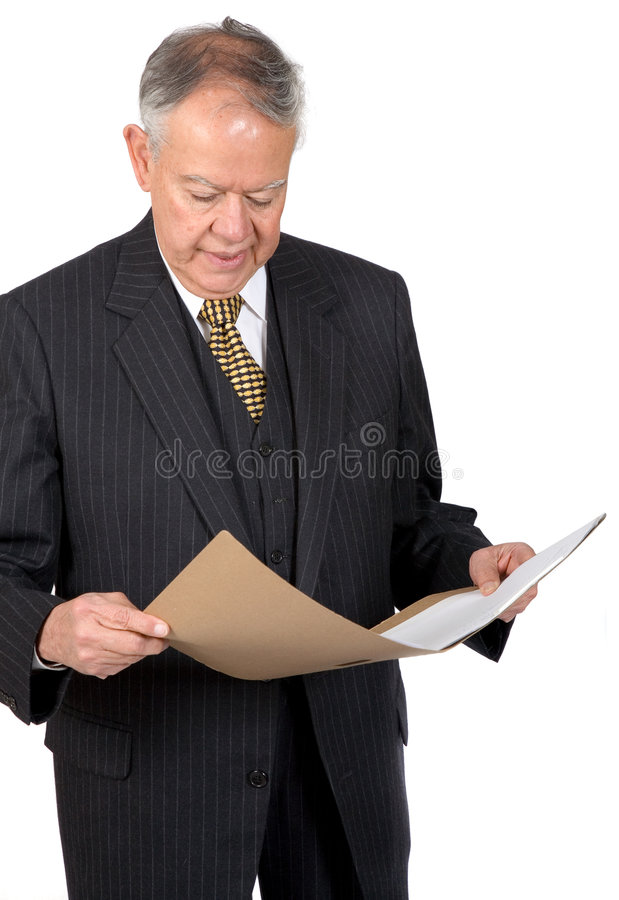 Download Business man with a folder stock image. Image of over - 1413125