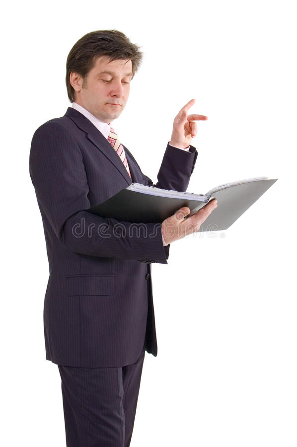 Business Man With Folder Royalty Free Stock Images