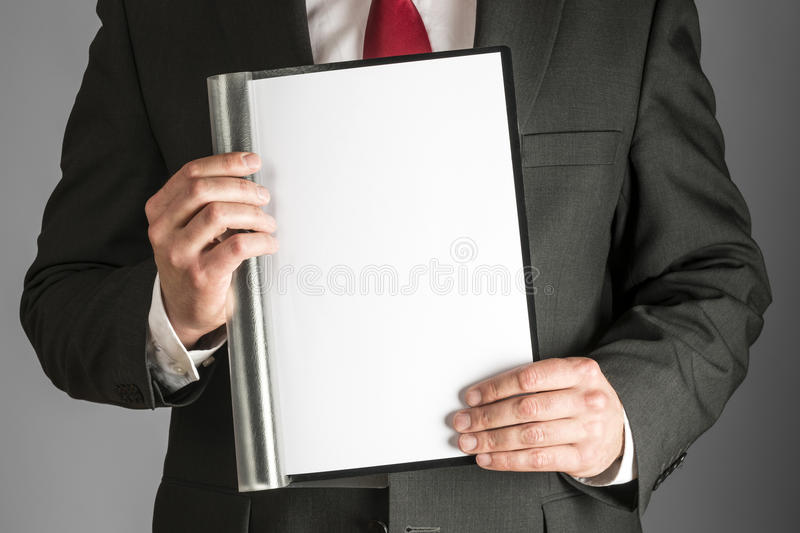 Business man with folder royalty free stock photos