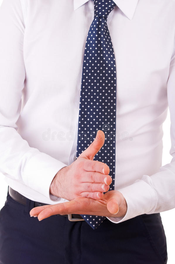Download Businessman Gesturing With Both Hands. Stock Image - Image: 30074451