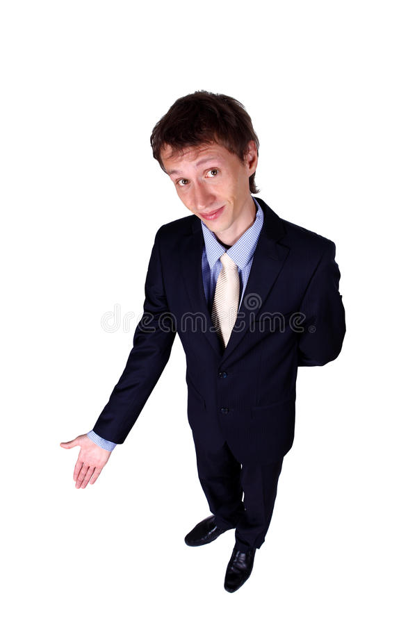 Business Man Gesturing In Studio Royalty Free Stock Images
