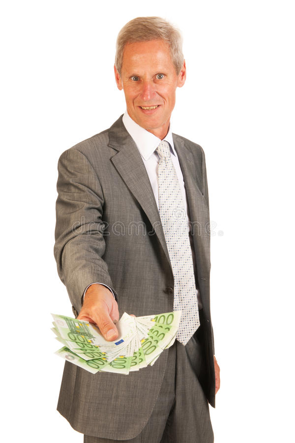 Download Business man giving euros stock photo. Image of lots - 26795440