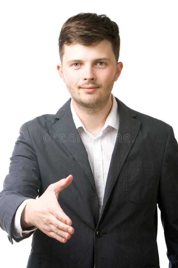 Download Business Man Giving His Hand For A Handshake Stock Image - Image: 24441495