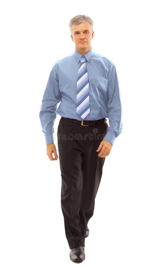 Business man going stock photos