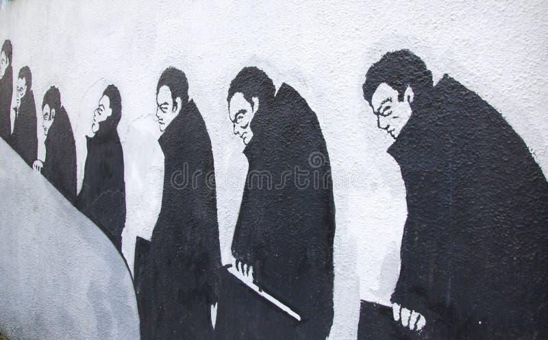 Business Man Graffiti stock photo