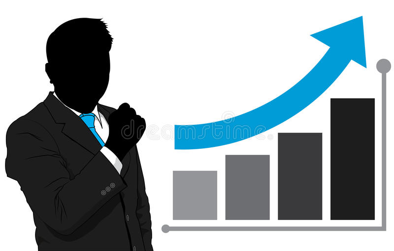 Download Business Man And Graph Growth Stock Vector - Image: 31880864