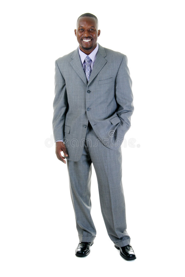 Business Man in Gray Suit 1 stock photo