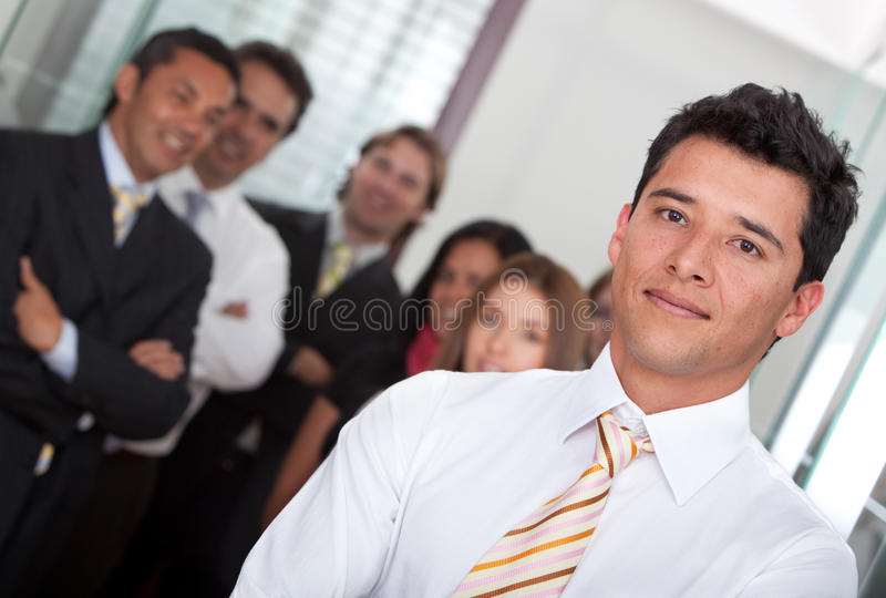 Download Business man with a group stock image. Image of leading - 13188673