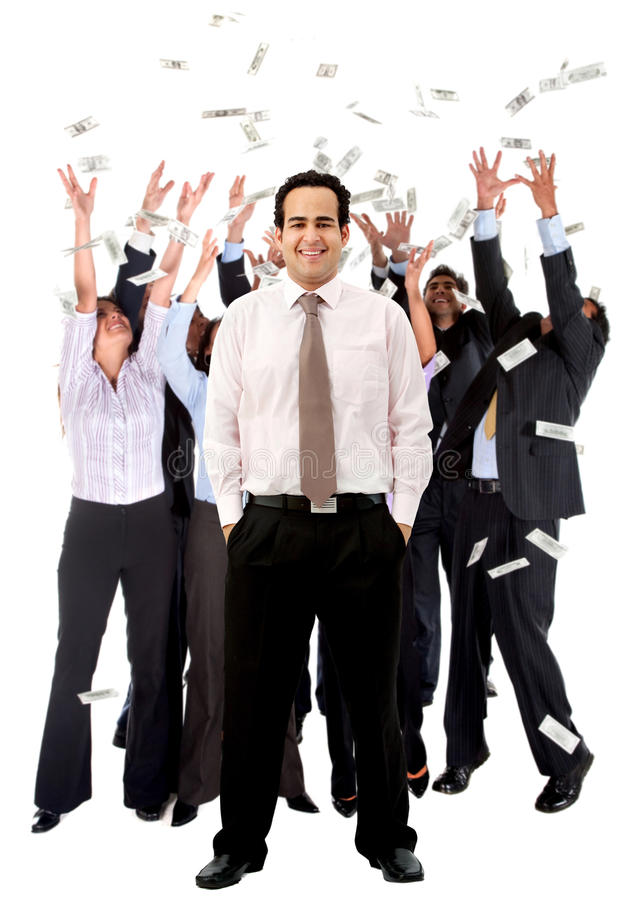Download Business man with a group stock photo. Image of corporate - 21220260