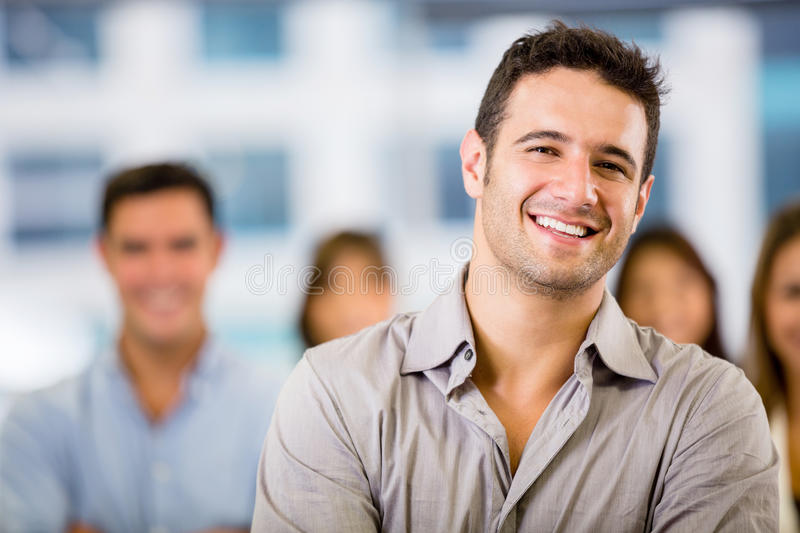 Download Business man with a group stock photo. Image of leader - 29204888